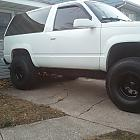 1996 Tahoe Lifted Aftermarket wheels/rims