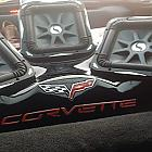 "Four 10"" L-7s Solos in the rear of a '10 corvette"