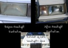 Before and After of headlights