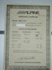 Alpine MRV-T757 birth sheet