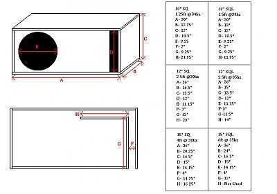 single sub enclosure diagram